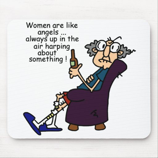 Women Are Like Angels Mouse Pads