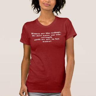 Women are like teabags tee shirts