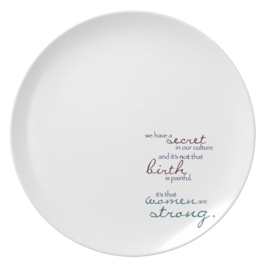 women are strong plate