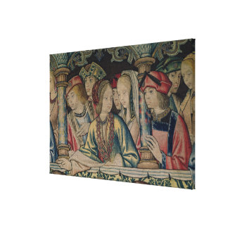 Women at the court of David Canvas Print