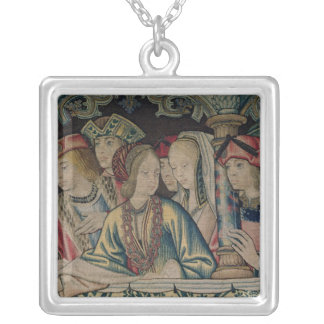 Women at the court of David Silver Plated Necklace