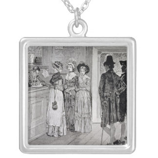 Women at the Polls in New Jersey Silver Plated Necklace