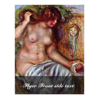 Women At The Well By Pierre-Auguste Renoir Full Color Flyer