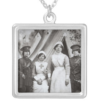 Women at War, 1914-18 Silver Plated Necklace