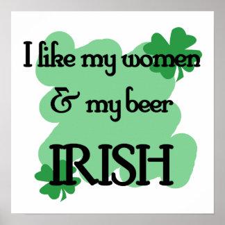women beer print