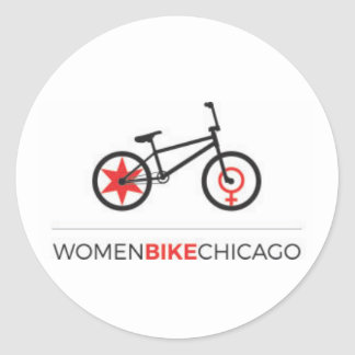 Women Bike Chicago - BMX Design Stickers