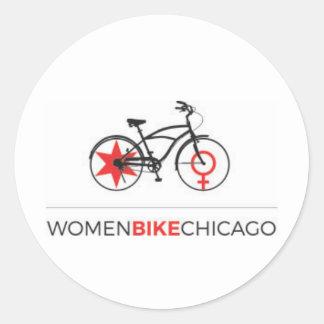 Women Bike Chicago - Cruiser Design Stickers