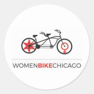 Women Bike Chicago - Tandem Bike Stickers