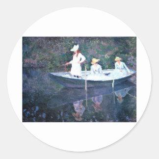 Women Boating - Claude Monet Classic Round Sticker