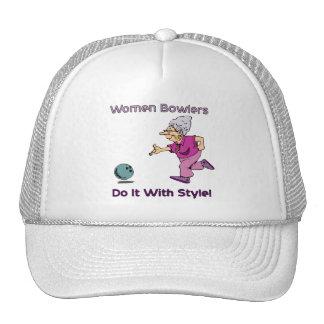 Women Bowlers Mesh Hat