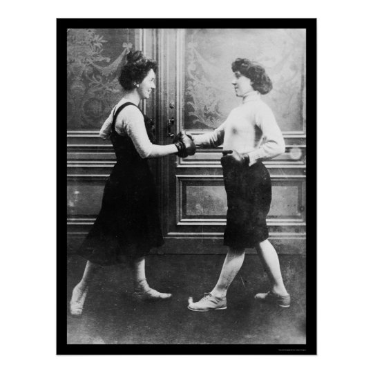 Women Boxing Match 1912 Poster