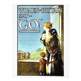 Women Britain Say, Go Full Color Flyer