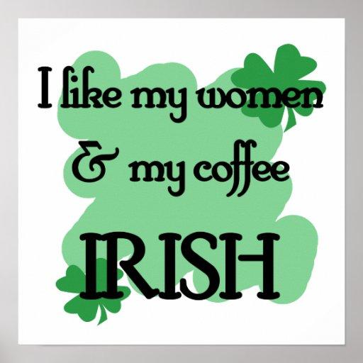 women coffee poster