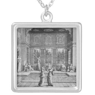 Women dancing in the Harem Silver Plated Necklace