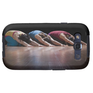Women doing Child's pose Galaxy S3 Covers