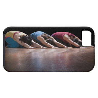 Women doing Child's pose iPhone 5 Cases