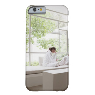Women drinking tea in window barely there iPhone 6 case
