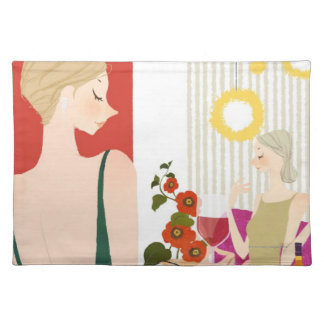Women Drinking Wine Placemat