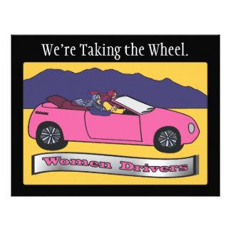 Women Drivers ~ We're Taking the Wheel 21.5 Cm X 28 Cm Flyer