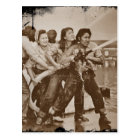 Women Firefighters Pearl Harbour December 7 Postcard