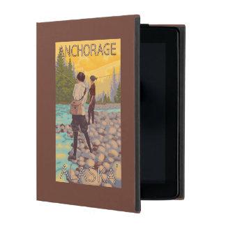 Women Fly Fishing - Anchorage, Alaska iPad Folio Cover