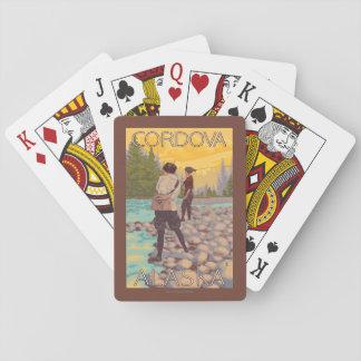 Women Fly Fishing - Cordova, Alaska Playing Cards