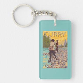 Women Fly Fishing - Curry, Alaska Key Ring