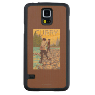 Women Fly Fishing - Curry, Alaska Maple Galaxy S5 Case