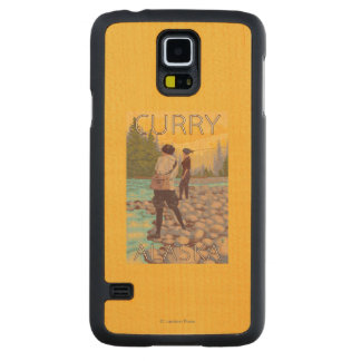 Women Fly Fishing - Curry, Alaska Maple Galaxy S5 Slim Case