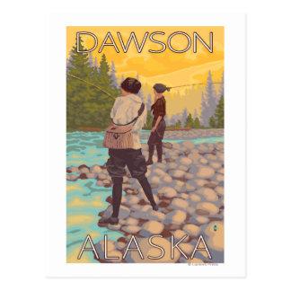 Women Fly Fishing - Dawson, Alaska Postcard