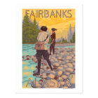 Women Fly Fishing - Fairbanks, Alaska Postcard