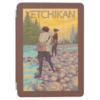 Women Fly Fishing - Ketchikan, Alaska iPad Air Cover