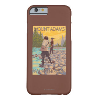 Women Fly Fishing - Mount Adams, Washington Barely There iPhone 6 Case