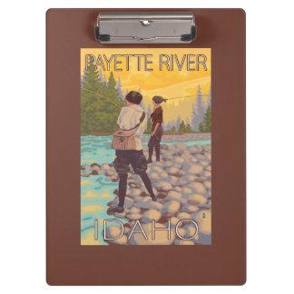 Women Fly Fishing - Payette River, Idaho Clipboard