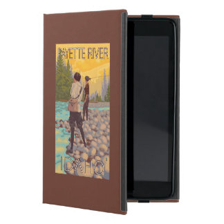 Women Fly Fishing - Payette River, Idaho Covers For iPad Mini
