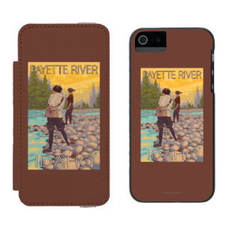 Women Fly Fishing - Payette River, Idaho Incipio Watson™ iPhone 5 Wallet Case