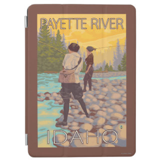 Women Fly Fishing - Payette River, Idaho iPad Air Cover