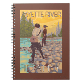 Women Fly Fishing - Payette River, Idaho Notebook