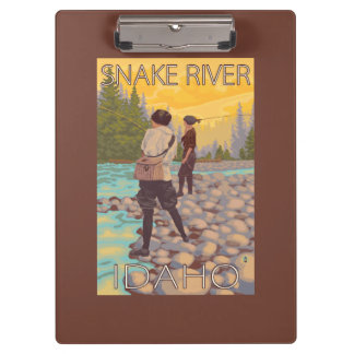 Women Fly Fishing - Snake River, Idaho Clipboard