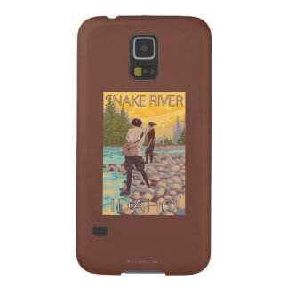 Women Fly Fishing - Snake River, Idaho Galaxy S5 Cover