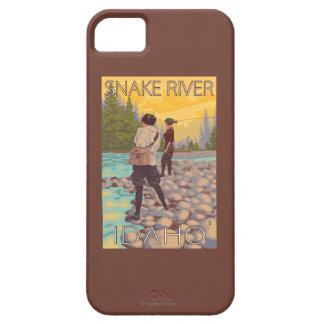 Women Fly Fishing - Snake River, Idaho iPhone 5 Cover