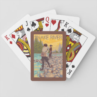 Women Fly Fishing - Snake River, Idaho Playing Cards