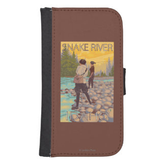 Women Fly Fishing - Snake River, Idaho Samsung S4 Wallet Case