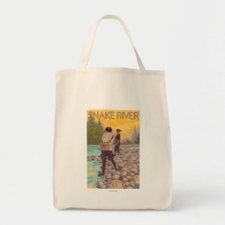 Women Fly Fishing - Snake River, Idaho Tote Bag