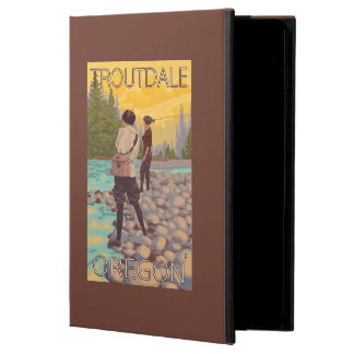 Women Fly Fishing - Troutdale, Oregon iPad Air Covers