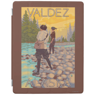 Women Fly Fishing - Valdez, Alaska iPad Cover
