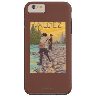 Women Fly Fishing - Valdez, Alaska Tough iPhone 6 Plus Case