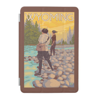 Women Fly Fishing - Wyoming iPad Mini Cover