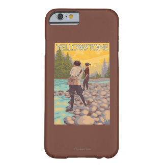 Women Fly Fishing - Yellowstone National Park Barely There iPhone 6 Case