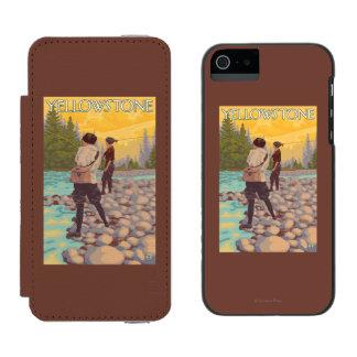Women Fly Fishing - Yellowstone National Park Incipio Watson™ iPhone 5 Wallet Case